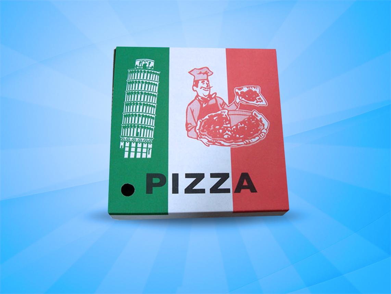 Pizza Box – Clay/Corrugated