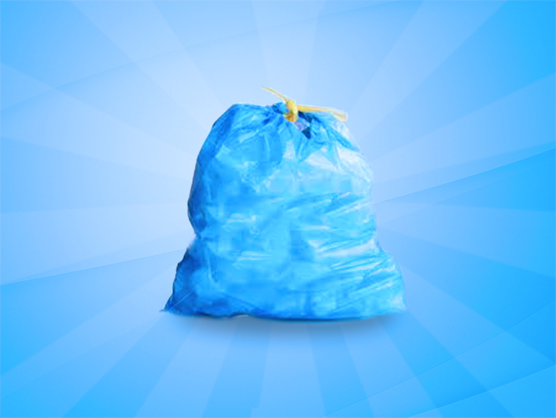 Clear or Blue Bags