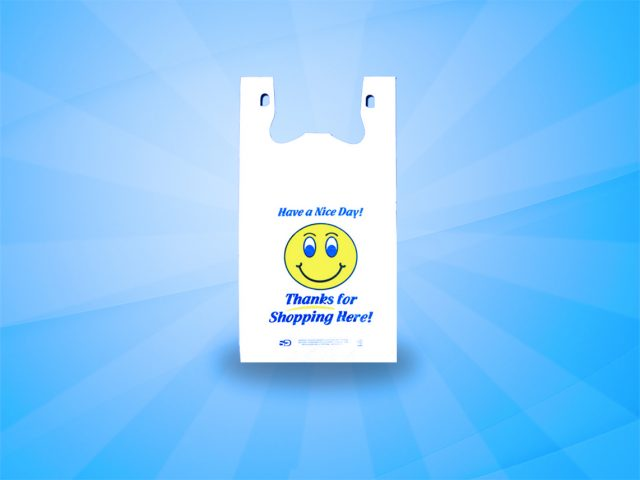 Smiley Face White Shopping Bag – 2 colors